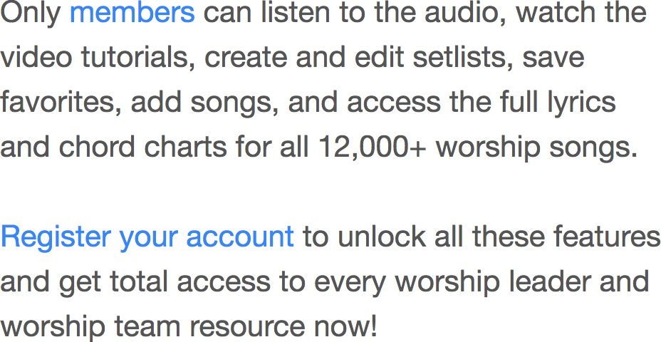 Worshipchords 1 Worship Leader Site Guitar Chords Piano Chords